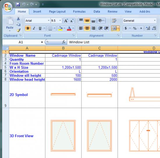 Cadimage Blog » Export Schedules to Excel